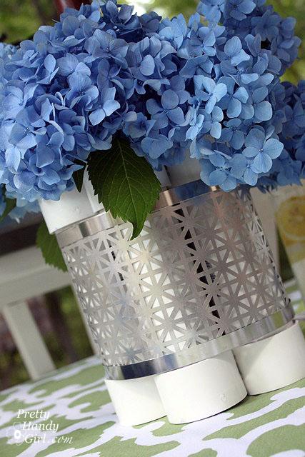 A vase for fresh flowers.