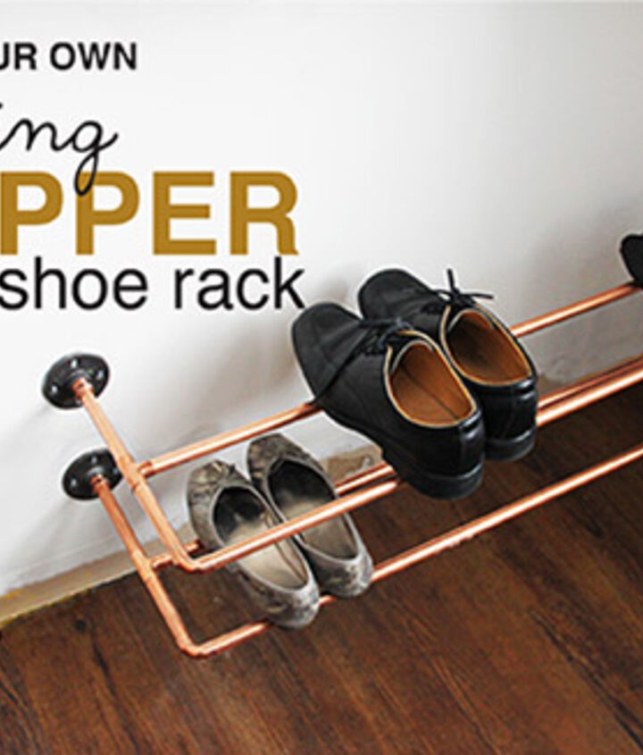organizing copper shoe rack build, closet, repurposing upcycling, shelving ideas, storage ideas