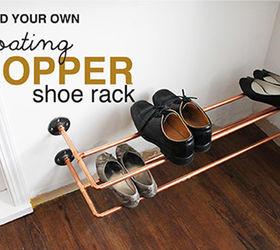 Organizing Copper Shoe Rack Build, Closet, Repurposing Upcycling, Shelving  Ideas, Storage Ideas