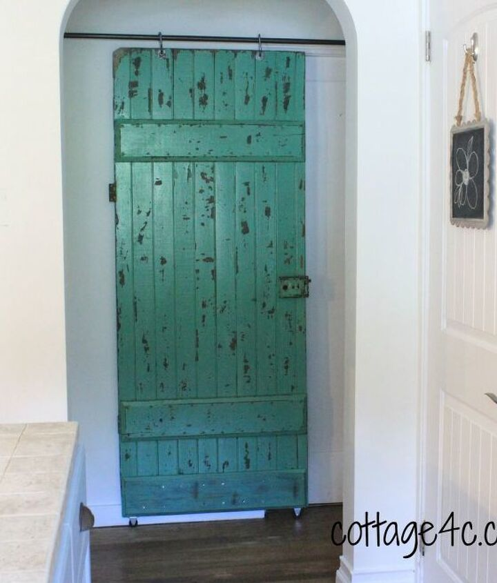 old door and plumbing supplies, diy, doors, home decor
