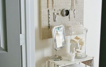 create a burlap jewelry board, crafts, reupholster