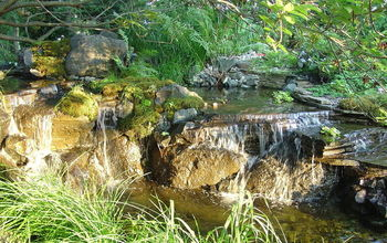 water features waterfalls, outdoor living, ponds water features, Natural looking backyard Waterfalls Learn more about our waterfall construction click on this link