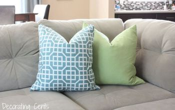 target napkins turned pillows, how to, living room ideas, repurposing upcycling, reupholster