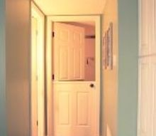 diy dutch door turning a hollow core door into a dutch door, doors, home decor
