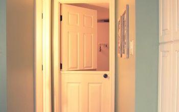 diy dutch door turning a hollow core door into a dutch door, doors, home decor