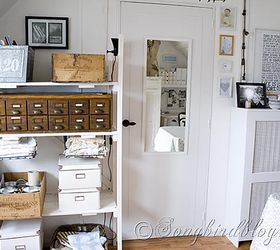 craft room makeover cleaning tips craft rooms home office repurposing upcycling. pallet wood storage unit ... & Craft Room Makeover | Hometalk