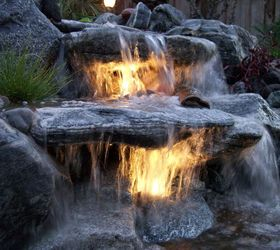 underwater lighting in a waterfall lighting outdoor living ponds water features Double & Underwater Lighting in a Waterfall   Hometalk
