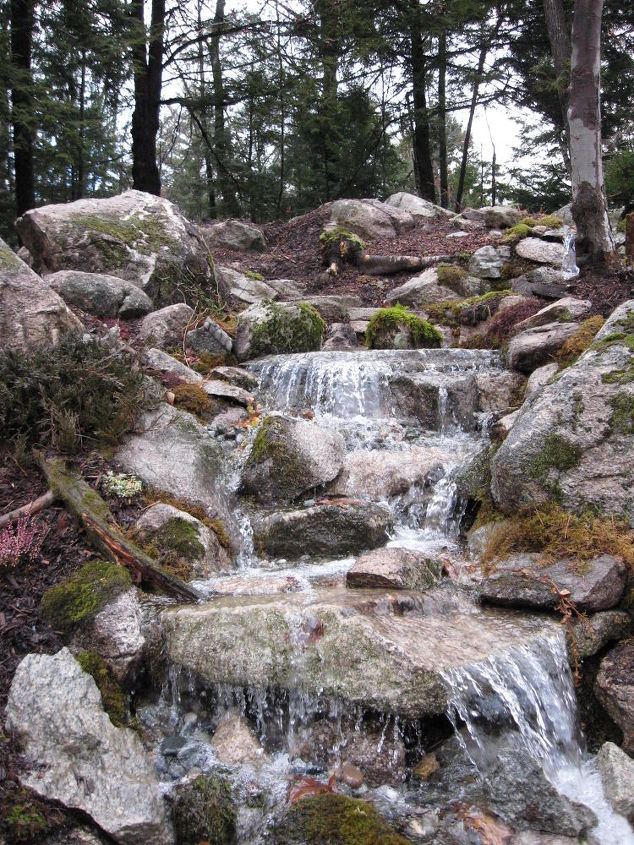 pondless waterfall transforms backyard in nh, gardening, landscape, outdoor living, ponds water features, Pondless Waterfall Transforms Backyard in NH