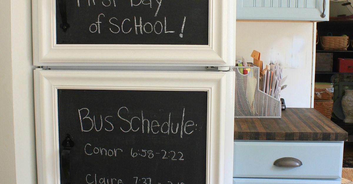 Framed Chalkboard Panels For The Fridge Hometalk