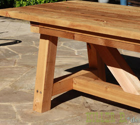 Incroyable Cedar Provence Table Knockoff For 230, Diy, Outdoor Furniture, Painted  Furniture, Woodworking. 4x4 Post Legs
