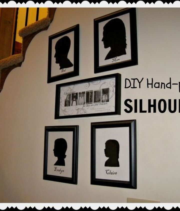 Hand-painted silhouettes for the whole family!