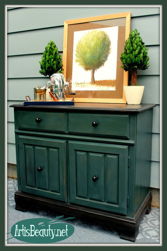 Painted Furniture Buffet Bar Makeover