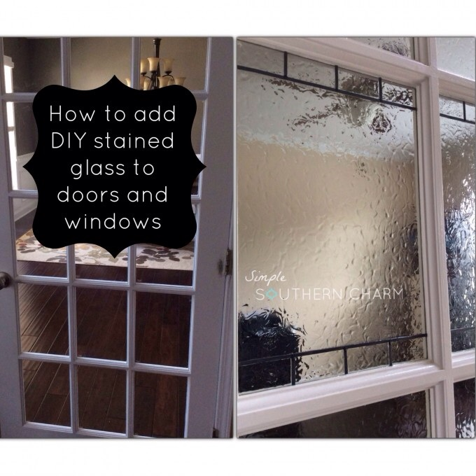 Diy Stained Glass For Privacy On Doors And Windows Hometalk