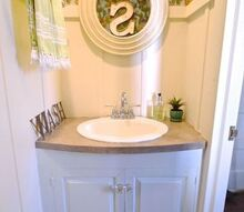 small bathroom makeover wallpaper fun bright, bathroom ideas, countertops, diy, flooring, small bathroom ideas, wall decor