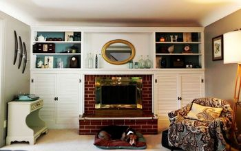 Fireplace and Built-ins Before and After