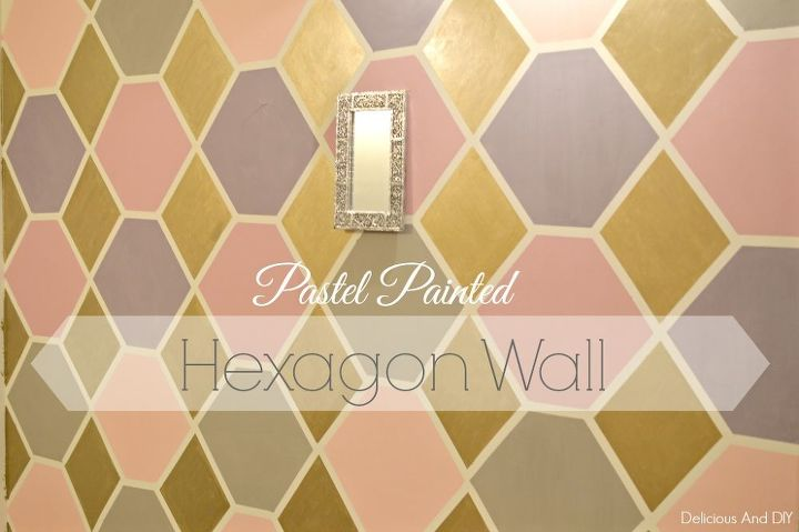 pastel paint colorsPastel Painted Hexagon Feature Wall  Hometalk