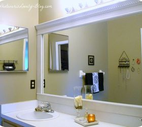 Bathroom Mirror Framed With Crown Molding, Bathroom Ideas, Home Decor,  Framed Bathroom Mirror