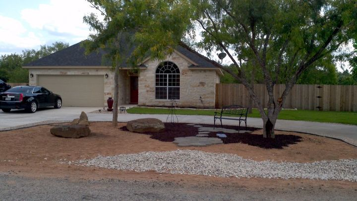 creating a no mow dry creek garden in front of our new house, curb appeal, gardening, landscape