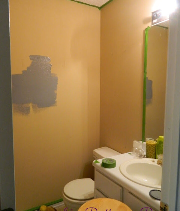 My half bathroom before