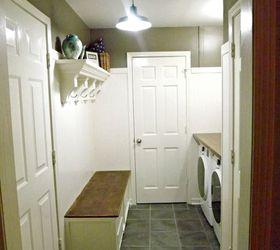 Charming Laundry Room Bench Ideas Part - 5: Mudroom Laundry Room Update, Hardwood Floors, Laundry Rooms, Shelving Ideas,  Storage Ideas