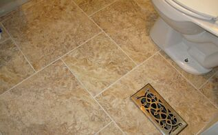 diy grouted vinyl tiling, bathroom ideas, home decor, tile flooring, tiling, Grouted vinyl tiling