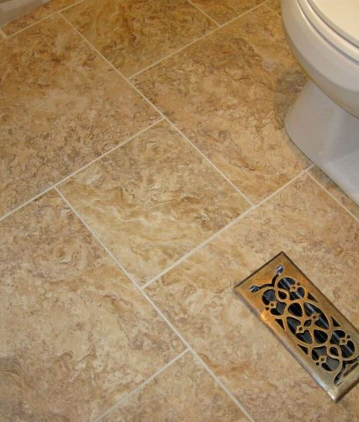 Grouted vinyl tiling