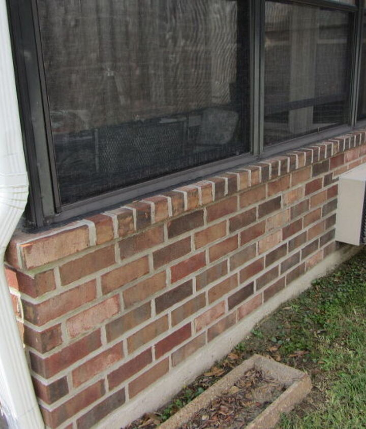 The exterior brick of my patio.