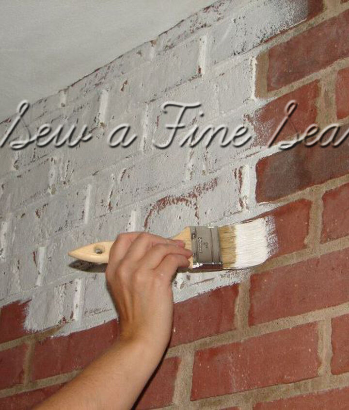 Painting a brick fireplace with ASCP