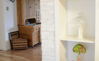 ascp on a brick fireplace, chalk paint, fireplaces mantels, home decor, painting, A Peek into the entry