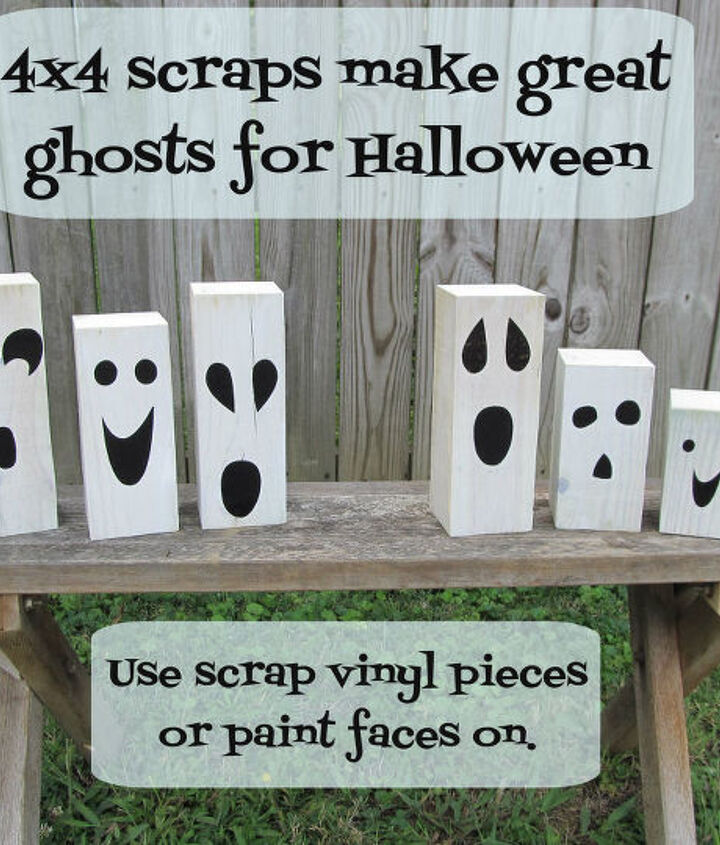 using scraps to make these fun ghosts was so easy.