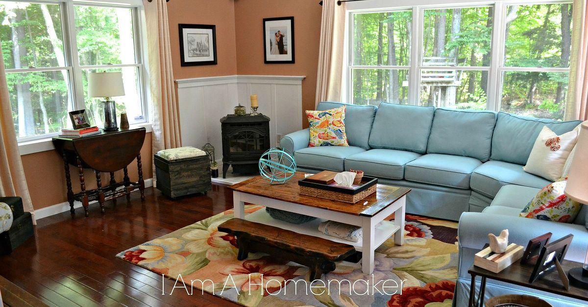 Blue and Orange Living Room Style | Hometalk