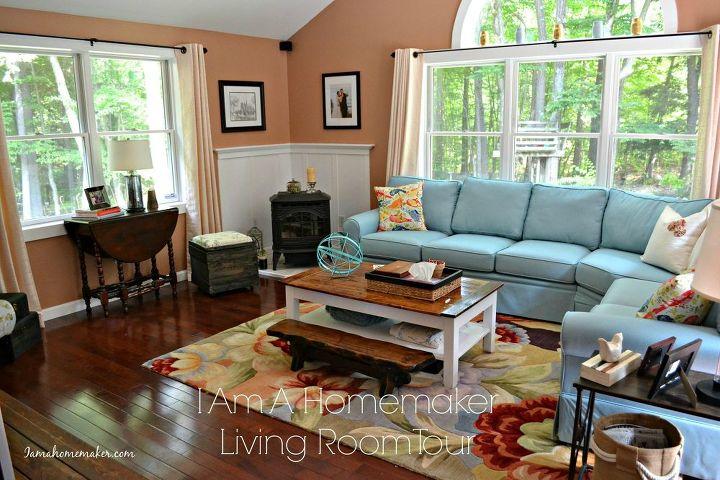 Living Room Ideas Blue Orange Color Scheme Home Decor Wall