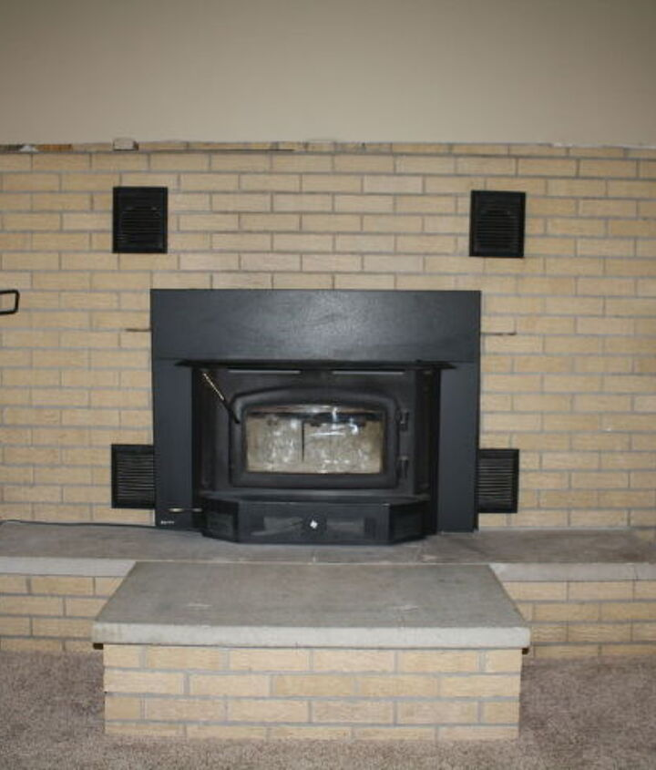 what to do with this 1968 era fireplace without tearing out the brick, concrete masonry, fireplaces mantels