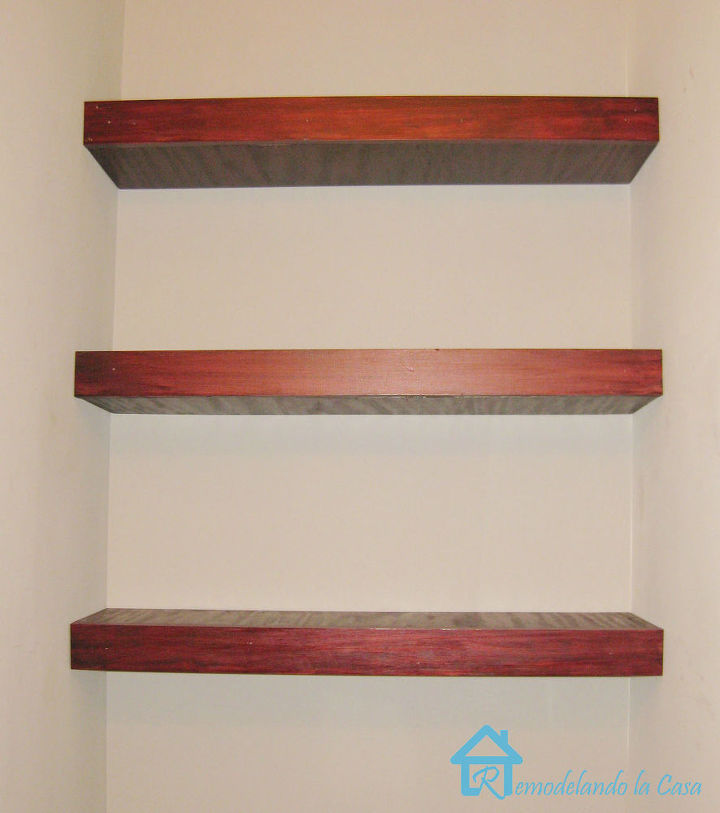 Building Floating shelves in a Small Bathroom | Hometalk