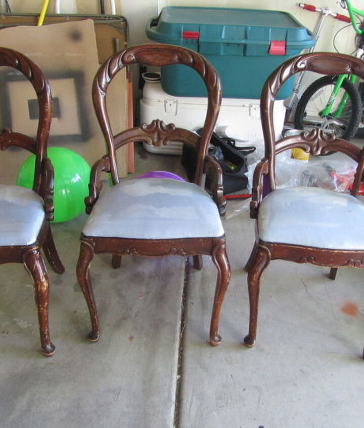 the before picture of the chairs.