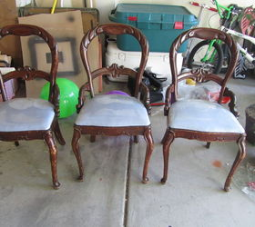 Revamped Old Chairs With White Paint And Chevron Patterned Fabric, Painted  Furniture, Reupholster,