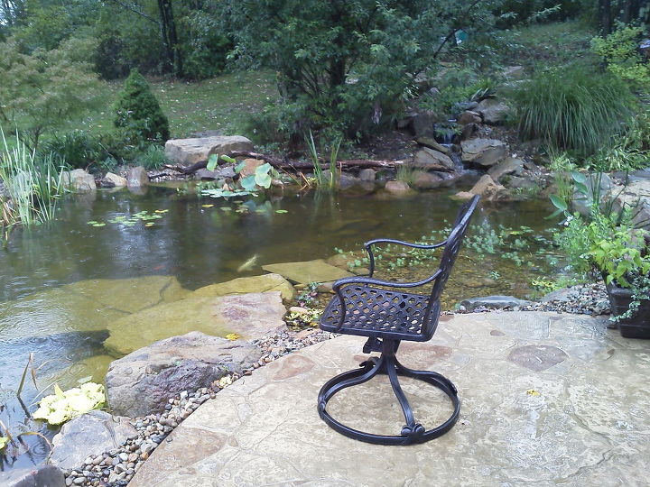 outdoor living water garden, outdoor living, patio, ponds water features, this is a nice vantage point