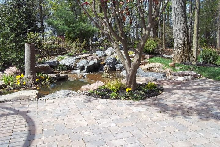 Pond and Patio by Lentzcaping, Warrington, PA