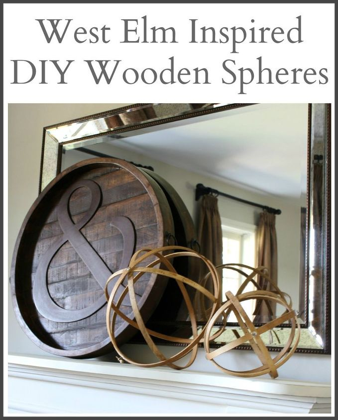 wooden spheres west elm inspired, crafts, home decor