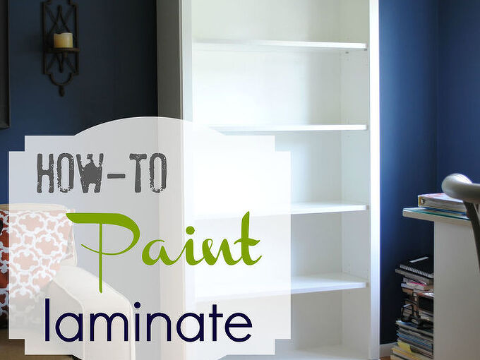 how to paint laminate furniture, painted furniture, shelving ideas, A full tutorial on how to paint laminate furniture