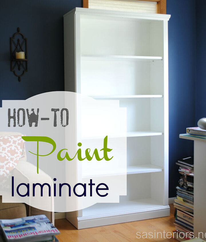 A full tutorial on how-to paint laminate furniture