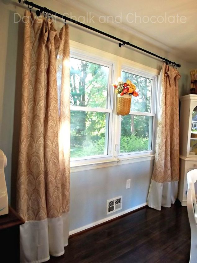Shower Curtains Turned Dining Room Curtains | Hometalk