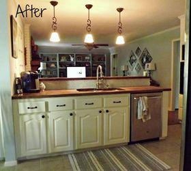 Kitchen Makeover With Butcherblock Countertops, Countertops, Diy, How To,  Kitchen Backsplash,