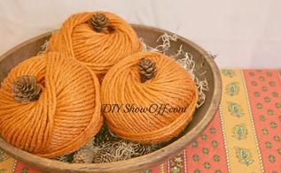 quick easy diy fall craft yarn pumpkins, crafts, seasonal holiday decor, DIY yarn pumpkins