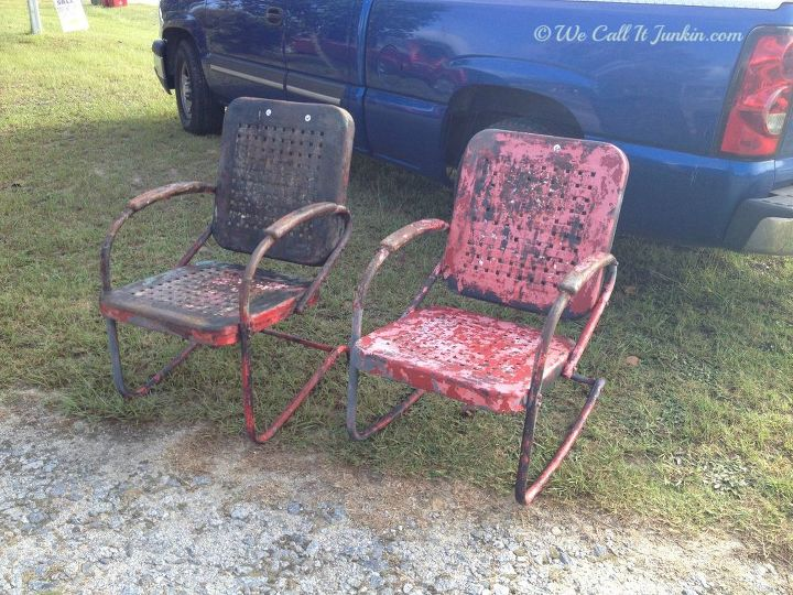 painted furniture vintage lawn chair reno, outdoor furniture, painted  furniture - Painted Vintage Lawn Chair Reno Hometalk