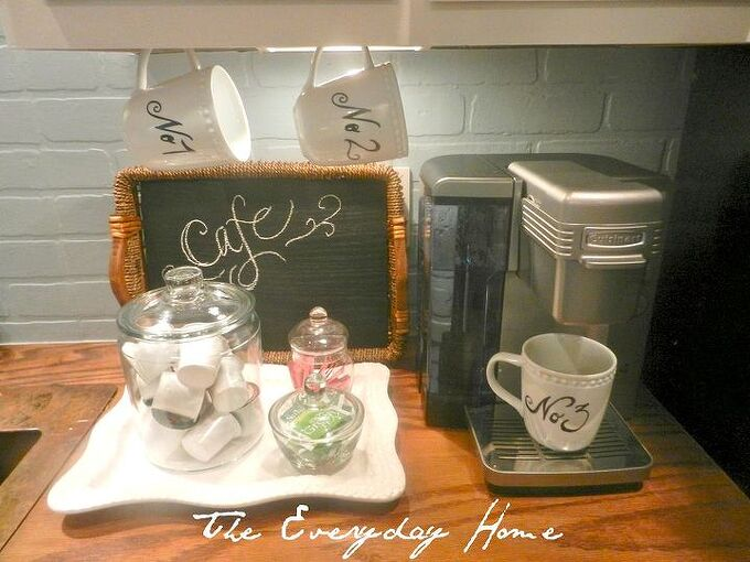 my mini coffee station it greets me every morning, chalk paint, cleaning tips, kitchen design, Ou little coffee station