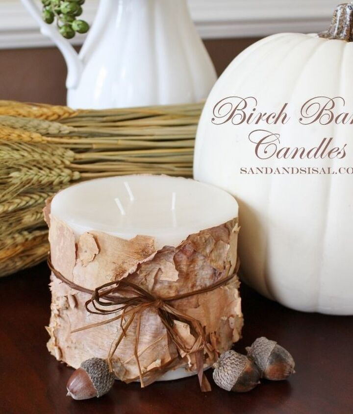 Make Birch Bark Candles- perfect for the holidays or a hostess gift.