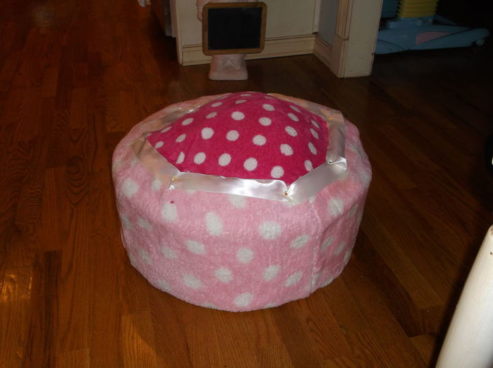 another tire ottoman, painted furniture, repurposing upcycling