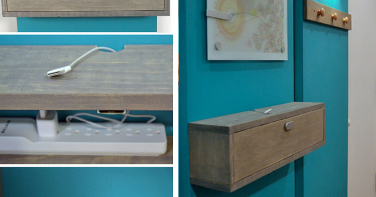 Wall Mounted Diy Charging Station And Shelf Combo Hometalk