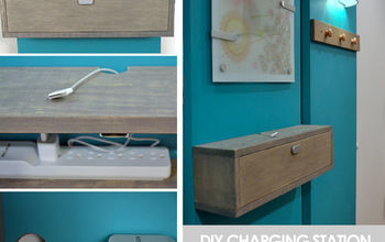 Wall Mounted DIY Charging Station and Shelf Combo